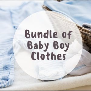 Mystery bundle of baby boy clothes mixed